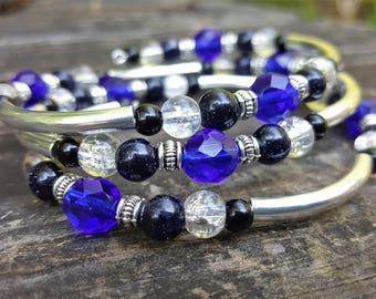 Kora's Stargazing Memory Wire Bracelet