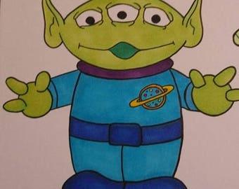 Toy Story Alien A5