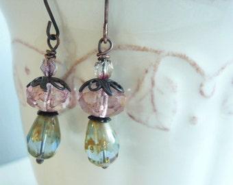 Pastel Earrings - Monet's Garden