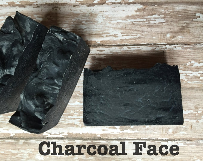 Activated Charcoal Face Soap, Great Facial or Body Bar. Coal Face Acne Lush and Soothing Cleanser!