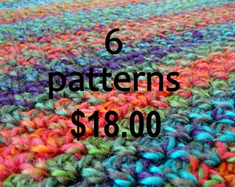 SIX (6)   patterns for eighteen dollars / Discount patterns permission to sell finished product