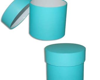 3 Aqua Colored Round Mod Boxes