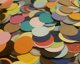 1 inch die cut circles, confetti circles, scrapbook, paper crafts, scrap paper circles, scrapbook embellishments.