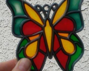 Tiffany-Style Butterfly Sun Catcher
