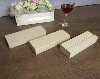 Wood Table Number Holders Set, Wedding Table Numbers, Wedding sign holder, Wood table number stand,
