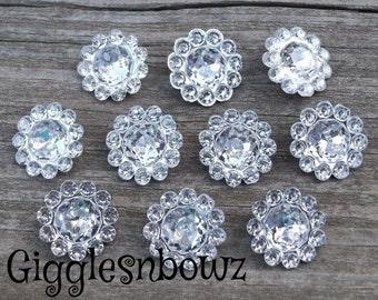 10pc PReTTy RHiNeSTONE Embellishments- 11mm acrylic gem shape stones- Diy Supplies- Headband Supplies