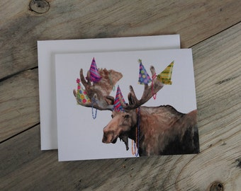 Party Moose - Birthday Moose Card