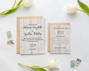 Rustic Wedding Invitations, Birch Wood Wedding Invitations, Wooden Birch Tree Wedding Invitation, Rustic Wedding, Forest Wedding Invitation