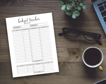 Printable Budget Tracker - Beautiful Home Monthly Budget Sheet - Instant Download