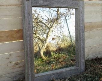 Reclaimed Wood Mirror - Rustic Lodge Decor - Bathroom Mirrors