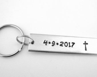 Confirmation Gift, Men Baptism Gift, Teen Confirmation Keychain, Adult Woman Baptism Gift, Christian Keychain