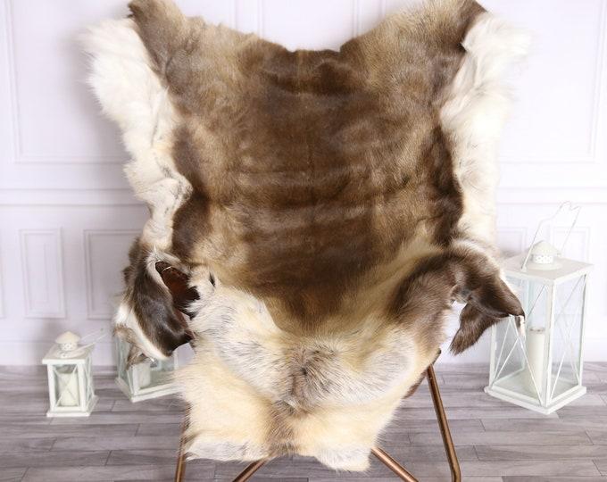 Reindeer Hide   Reindeer Rug   Reindeer Skin   Throw Large  - XXL EXTRA LARGE Scandinavian Style #BRE6