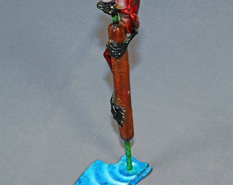 "Frog Bronze Amphibian Figurine Statue Sculpture Art ""Ribbit"" / Limited Edition Signed & Numbered"