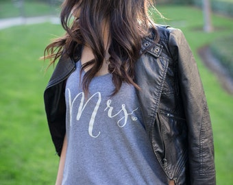 Mrs Tank, Bride Tank, Wifey Tank Top, Bride Shirt, Bridal Tank Top, Gifts for Bride to be, Bridal Shower Gift, Bachelorette Party