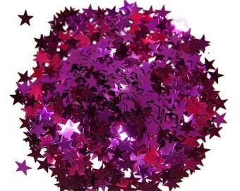 Light Purple Glitter, Glitter Stars, Purple Stars, Large Stars, Purple Confetti, Party Glitter, Craft Glitter, Purple, Star Glitter