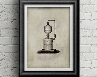 Chemestry Illustration 001 - Ancient drawing - Science decoration - Alchemy print
