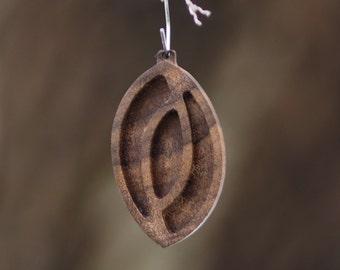 wooden pendant trays Pendant Blank Dark walnut base blank  Wooden Bezel