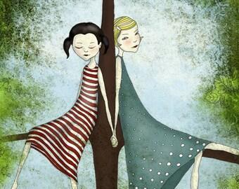 Friends  - Illustration print