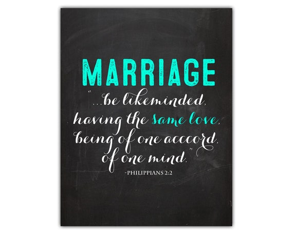 Items similar to Bible verse art - marriage quote - bible ...