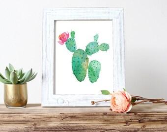 Watercolor Cactus Nursery Art, Wall Art, Printable Art, Watercolor (540)