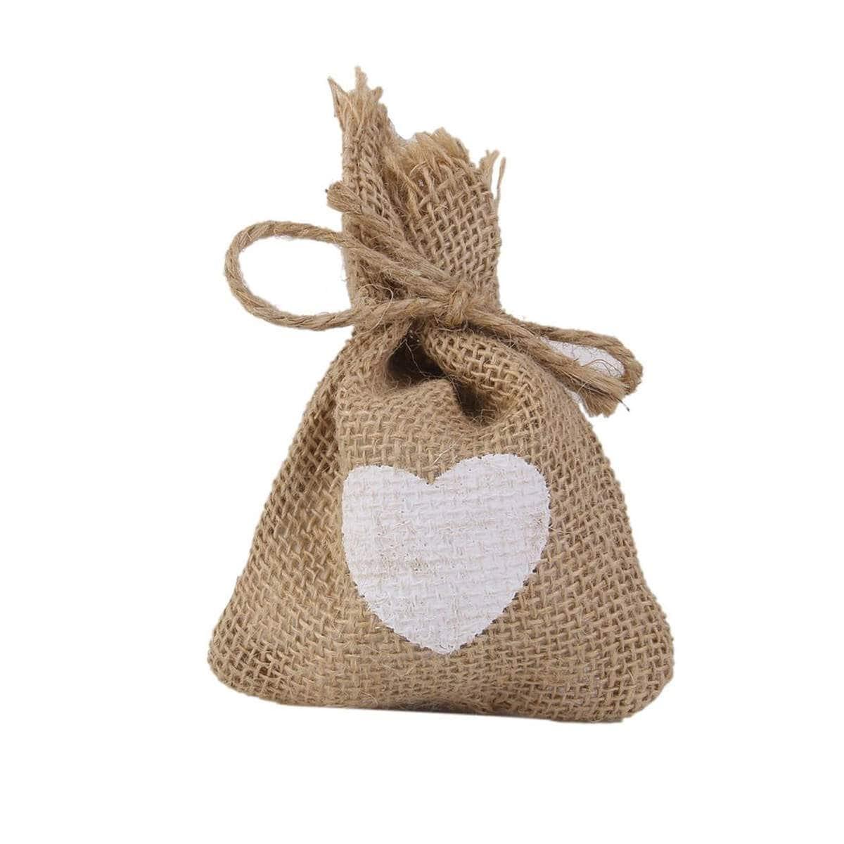 100 HESSIAN FAVOR BAGS, wedding favor bags, burlap bags, wedding ...