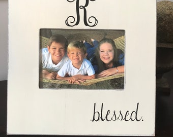 Personalized Blessed Picture Frame; Perfect for a Wedding, Baby Shower or Birthday Gift