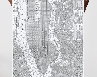 New York City, Historic Map, Fine Art Print