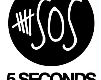 "2.5"" - 11"" Five Seconds of Summer 5SOS - Inspired Vinyl Adhesive Decal - DECAL ONLY"
