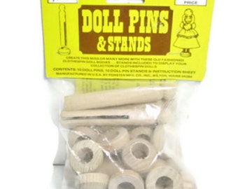 Forster Doll Pins and Stands 1978