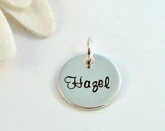 """1/2"""" Teeny Tiny Sterling Silver Pendant Add On"""