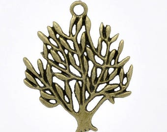 Set of 3 tree of life charms bronze (T16)