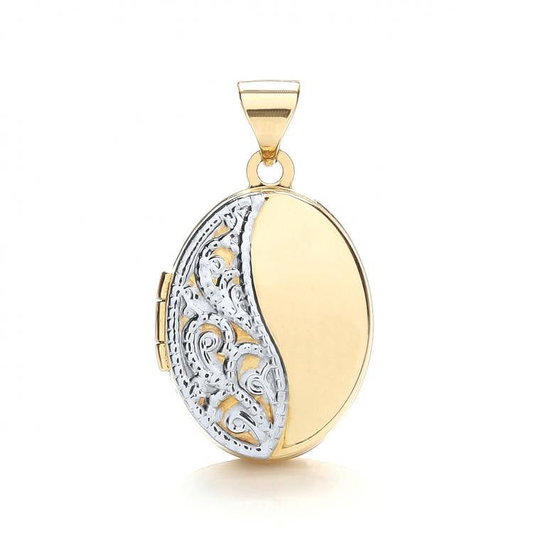locket treasured on gold engraved silver curb shop lockets plated necklace chain jewellery footprints