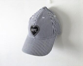 Striped Patch Baseball Cap