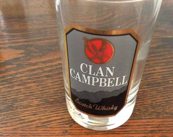 Set of 4 Clan Campbell Whiskey Glasses