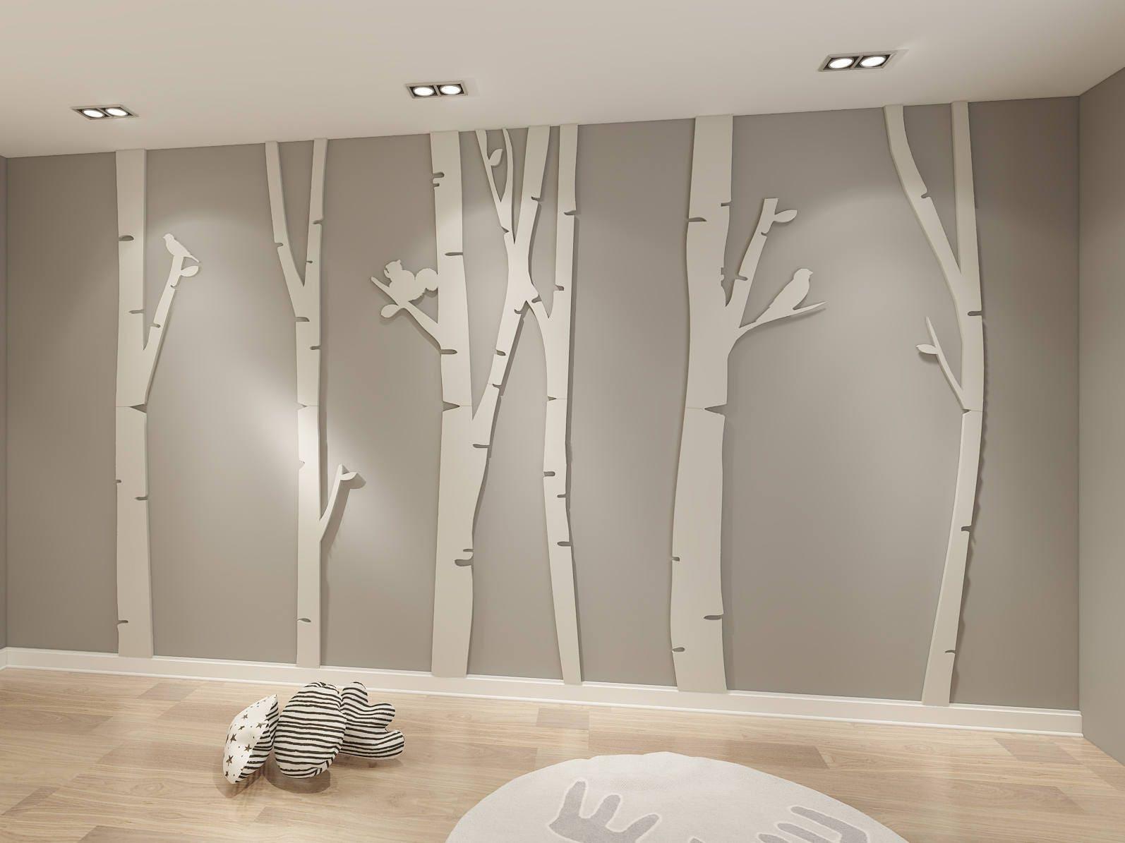 Birke Birke Stück 3D Dekorative Birke Birken-Holz Dekor