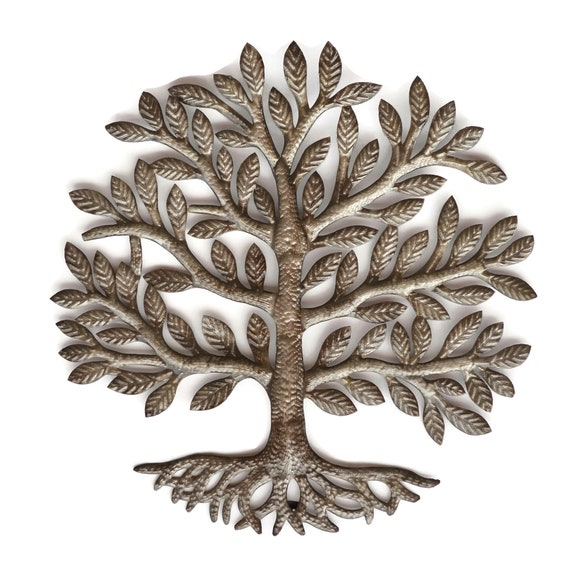Tree of Life w/ Roots , Unique Haitian Craftsmanship, Limited Edition 23 x 23