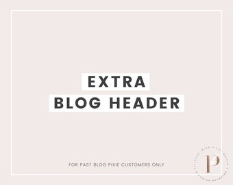 Extra Blog Header Image