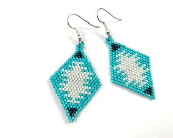 Geometric Tribal Diamond Dangles