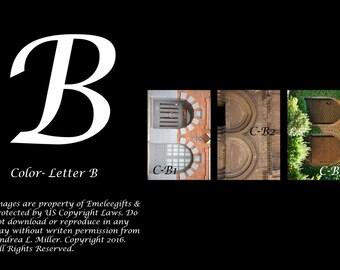 "Alphabet Letter {B} Art Photography~ 4x6 ""Color"" Digital Print"