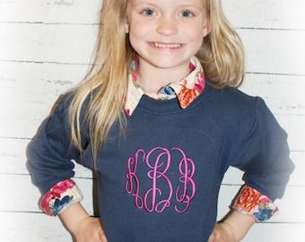 Youth Monogram Sweatshirt Monogram Pullover Sweatshirt  Great for Gift Ideas Youth Toddler Kids Girls or Boys