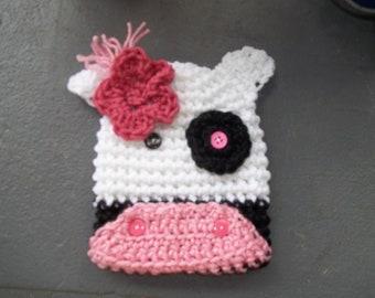 Newborn to Adult Cow Hat