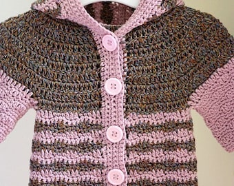 Crochet PATTERN - Soft Merino Hooded Cardigan