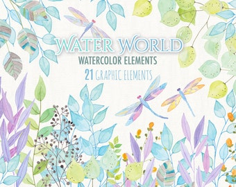 Water World - digital image -  for photography, personal use and small business project