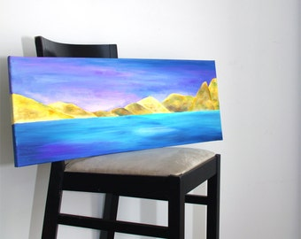 Landscape paintings Mountains painting acrylique Original painting wall art Canvas art - modern art - acrylic art - ready to hang