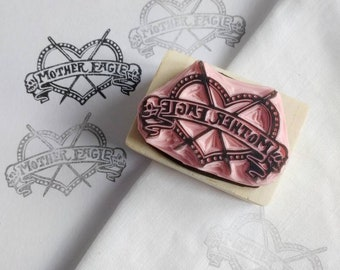Custom stamp, personalised stamp, logo stamp, wedding stamp, business logo stamp, hand carved rubber stamp,