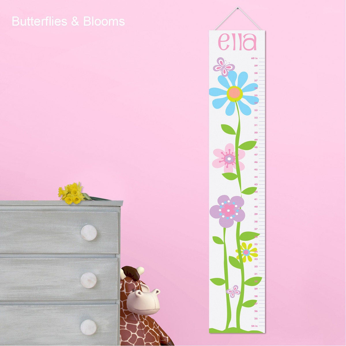 Butterflies blooms growth chart for girls personalized zoom nvjuhfo Gallery