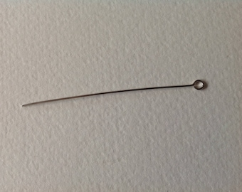 10 stems silver Palladium 63 mm eyelet