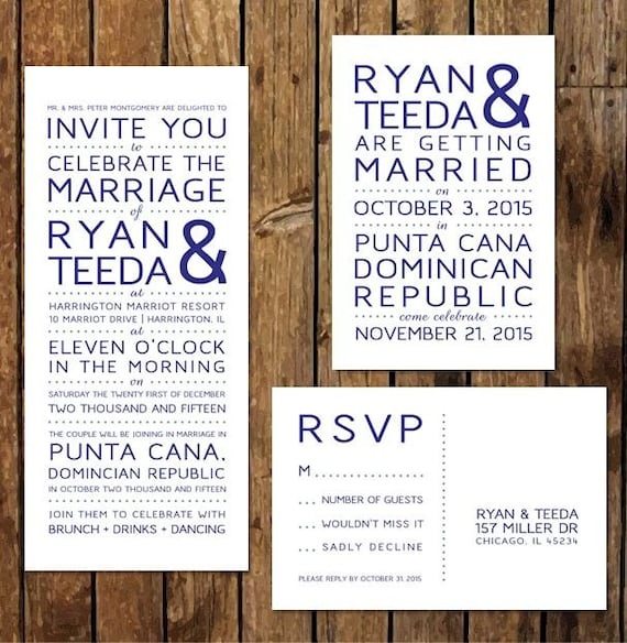 DIY Custom Printable Reception Invitations & RSVP. After the