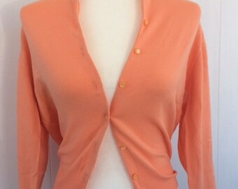 SHERBET Color 1960's Cardigan by Garland