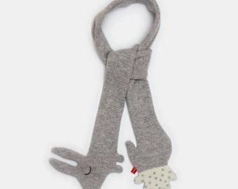 Bunny Rabbit Lambswool Schal - Massanfertigung